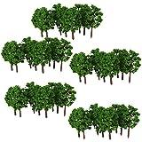 Segolike 100pcs 1:150 Scale 8cm Model Trees Architecture Buildings Street Greenery