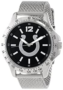 Game Time Mens NFL-CAG-IND Cage NFL Series Indianapolis Colts 3-Hand Analog Watch by Game Time