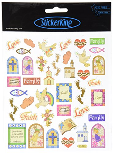 Multi-Colored Stickers-Religious