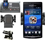 Mobilizers: In Car Air Vent Mount Holder Cradle Kit For All New Models Including Sony Ericsson Vivaz, Vivaz Pro, Xperia Arc, Xperia Arc S, Xperia Mini, Xperia Mini Pro, Xperia Neo, Xperia Play, Xperia Pro, Xperia Ray, Xperia X8, Xperia X10, Xperia X10 Mi