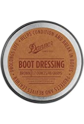 DANNER BOOT DRESSING (Protects,Revives,Prolongs,Conditions & Breaks in Boots) 1.7oz/48Grams (BROWN)