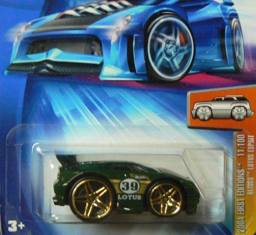 Hot Wheels 2004 First Editions Green Blings Lotus Espirit 1:64 Scale Collectible Die Cast Car Model #011 - 1