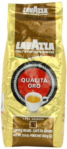 Lavazza Qualita Oro  Whole Bean Coffee, 8.8-Ounce Bags (Pack of 4)