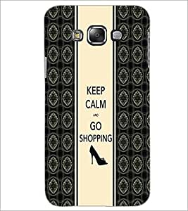 PrintDhaba Quote D-2727 Back Case Cover for SAMSUNG GALAXY E7 (Multi-Coloured)