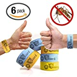 iGuard Band All Natural Mosquito Repellent Bracelets - Six (6) Pack - Deet Free, Mess, Spray or Plastic - Deters Bugs for Hours - Natural Oil Bug Repellent - Kid Safe Bracelet Money Back Guarantee!
