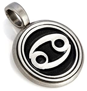 Amazon.com: Bico Cancer Zodiac Pendant (Z7 Black) - starsign - Colored