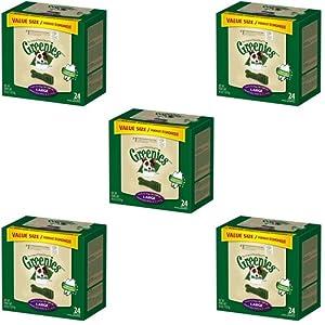 Greenies Dental Chews Value Size Large 180oz(5 x 36oz Tubs)