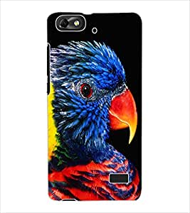 ColourCraft Beautiful Parrot Design Back Case Cover for HUAWEI HONOR 4C