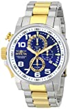 Invicta 14960 Men's I Force Blue Dial Two Tone Steel Bracelet Chronograph Lefty Watch