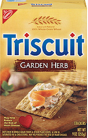 Nabisco Triscuit Baked Whole Grain Wheat Garden Herb Crackers, 9 Ounce (044000028015)