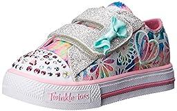 Skechers Kids Shuffles Light-Up Sneaker (Toddler), Pink/Multi, 12 M US Toddler