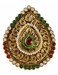 Vaishali Elegantly Gold plated and crafted with Maroon, Green and White Pearls sf1193