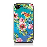 iPhone 4S / iPhone 4 Totally Tropical Hawaiian Print Parrot Blue / GreenHard Back Cover Case / Shell / Shieldby Call Candy