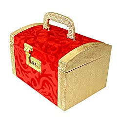 R S Jewels Handmade Wooden Womens Makup Box, Jewellery Box