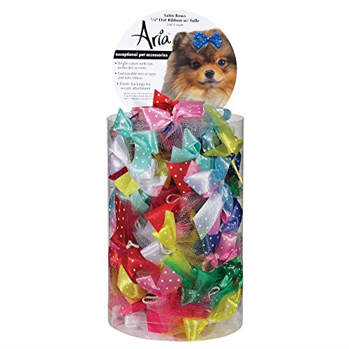 Artikelbild: Aria Dot Ribbon with Tulle Bows for Dogs, 100-Piece Canisters by Aria