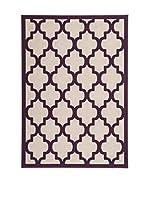 Vivorum Alfombra Maroc 3087 (Taupe/Morado)