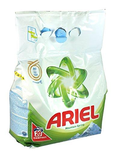 5 x Ariel Washing Powder 20 Wash Pack Mountain Spring