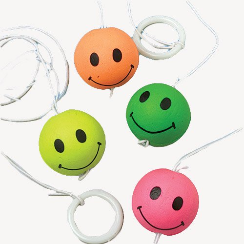 Smiley Face Return Balls