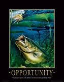 Fishing Motivational Poster Art Print Large Mouth Bass Walley Muskie Lures Poles 11x14 Wall Decor Pictures