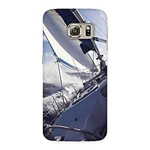 Falling Boat Back Case Cover for Samsung Galaxy S6 Edge