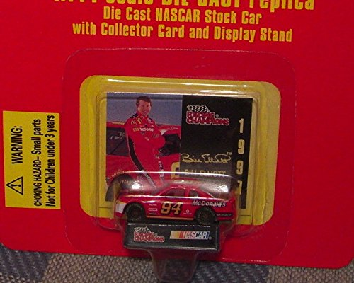 Racing Champions NASCAR BILL ELLIOTT 1:144 scale DIE CAST Replica with Collector Card and Display Stand - 1