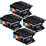E-Z Ink (TM) Compatible Ink Cartridge Replacement for Brother LC-75 XL High Yield (8 Black, 4 Cyan, 4 Magenta, 4 Yellow) 20 Pack Compatible With MFC-J6510DW MFC-J6710DW MFC-J6910DW MFC-J280W MFC-J425W MFC-J430w MFC-J435W MFC-J5910DW MFC-J625DW MFC-J825DW MFC-J835DW Printer