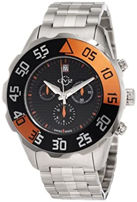 GV2 by Gevril Men's 3002B Parachute Chronograph Bracelet Date Watch