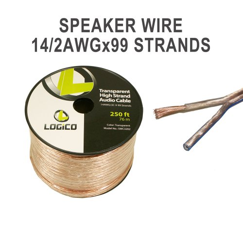14-Gauge Speaker Wire - Audio Cable 250 Feet