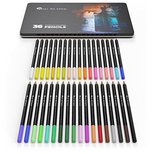 36 Piece Coloring Pencil Set - Soft Smooth Lead