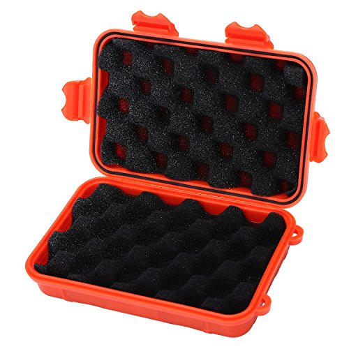 niceEshop(TM) Dry Storage Box Waterproof Floating Survival Dry Case for Boating, Kayaking, Fishing, Camping and Hiking(Large, Orange)