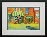 Mickey Mouse and Pluto Walt Disney Limited Edition Animation Cel, Mr. Mouse Takes a Trip, Framed