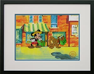 Mr Mouse Takes A Trip (Mickey Mouse and Pluto) - Walt Disney Limited Edition Animation Cel, Framed, DC-MP-08F