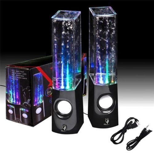 Fortech Colorful Led Fountain Dancing Water Portable Music Speakers(Black)
