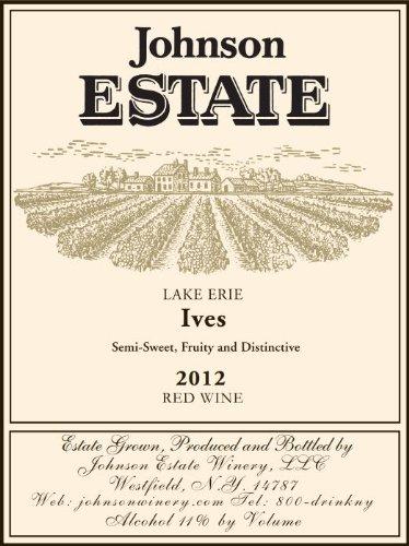 2012 Johnson Estate Lake Erie Ives Red Wine 750 Ml