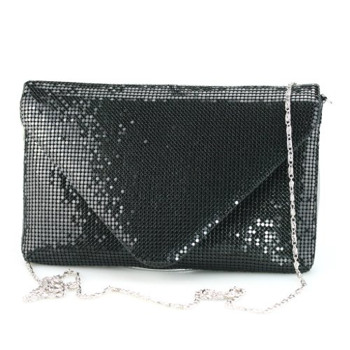 SHOEZY Celeb Womens Sequins Messenger Purse Case Clutch Handbag Bags With Chain