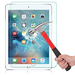 OMOTON iPad Pro 9.7 Inch Screen Protector - Tempered Glass Screen Protector for iPad Pro 9.7 Inch with [9H Hardness] [Crystal Clear] [Scratch Resist] [No-Bubble Installation]