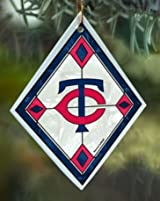 Minnesota Twins Stained Glass Ornament