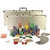 Ultimate Pokerset mit 1000 hochwertigen 12 Gramm METALLKERN Laserchips