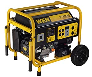 WEN 56682 7000-Watt 390cc 13-HP OHV Gas-Powered Portable Generator with Electric Start and Wheel Kit