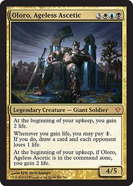 Magic: The Gathering - Oloro, Ageless Ascetic - Commander 2013 front-1060413