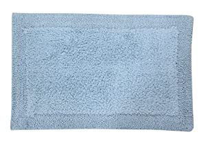 Hill Bella Napoli 100% Cotton Reversible Bath Rug 20X30 Light Blue