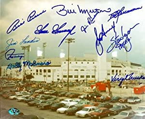 Chicago White Sox Comiskey Park Autographed Hand Signed photo signed by 11 Lyons,... by Hall+of+Fame+Memorabilia