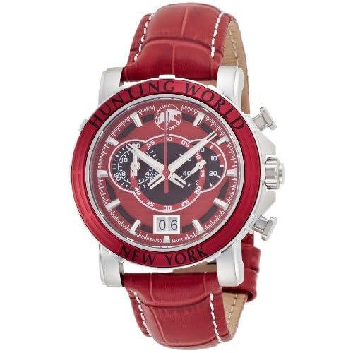 [ハンティングワールド]HUNTING WORLD 腕時計 イリス レッド 赤革 クオーツ HW913RD メンズ 【正規輸入品】