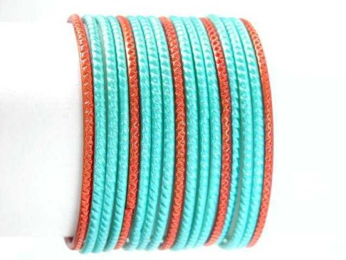 Beachcombers! Ethnic Glass Indian Bangles Belly Dance Bracelets Set Turquoise Copper - Buy Beachcombers! Ethnic Glass Indian Bangles Belly Dance Bracelets Set Turquoise Copper - Purchase Beachcombers! Ethnic Glass Indian Bangles Belly Dance Bracelets Set Turquoise Copper (Beachcombers!, Apparel, Departments, Accessories, Women's Accessories, Wedding)