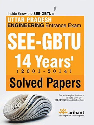 Uttar Pradesh Engineering Entrance Exam SEE GBTU 14 Years' Solved Papers Image