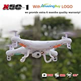 Amazingbuy - Syma X5C-1 2.4Ghz 6-Axis Gyro RC Quadcopter Drone UAV RTF UFO with HD Camera - New Updated Upgraded Version X5C-1 Smaller Packing Orginal Box - 4 additional Propellers + 2GB Memory Card + Card Reader + 3 Batteries + Tracking Number