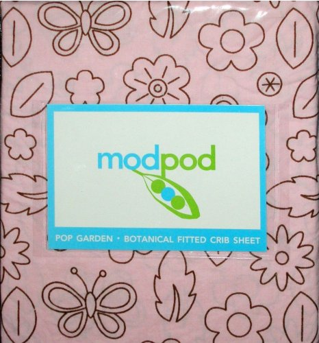 Modpod Pop Garden Botanical Fitted Baby Crib Sheet