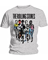 """Tee Shirt Gris The Rolling Stone """"Silhouette Collage"""" Taille L"""
