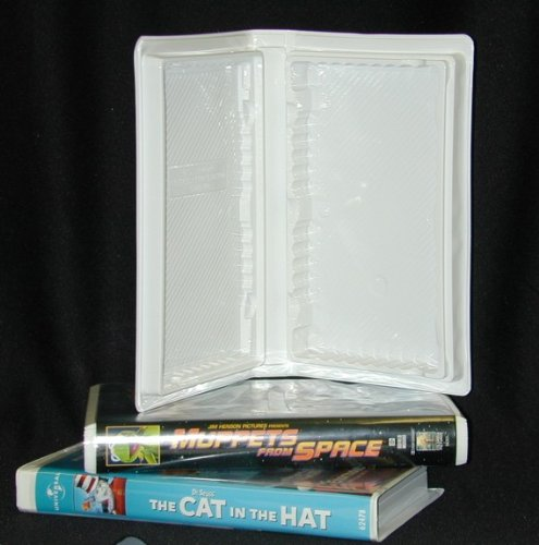 25 Empty Standard White Vinyl Replacement Disney Vhs Boxes