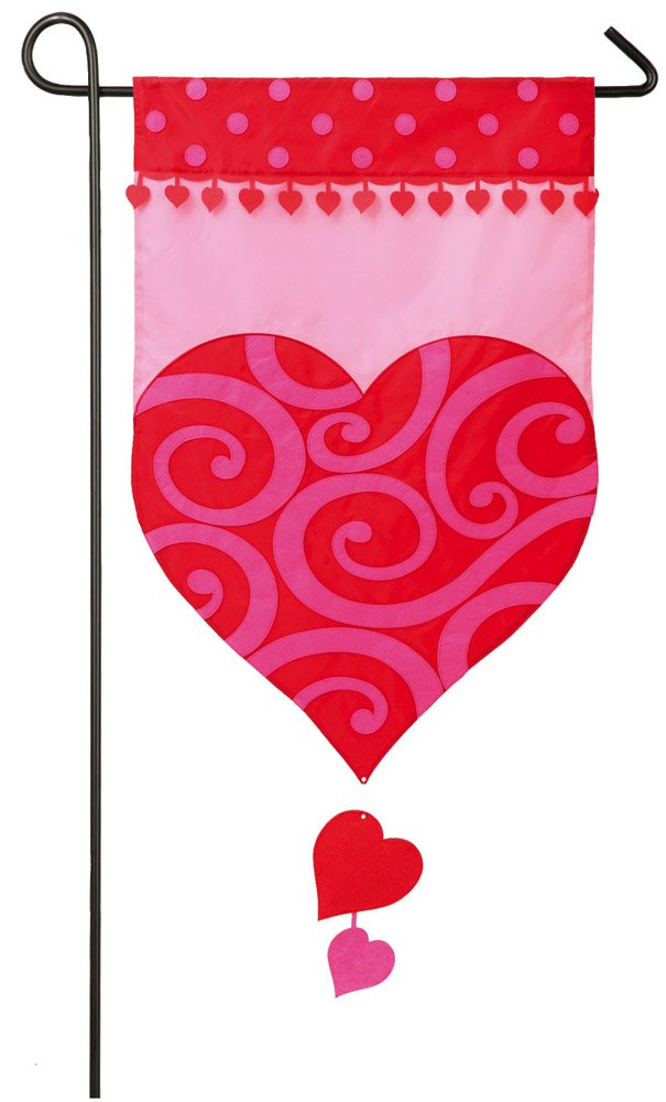 Heart Valentine Garden Flags
